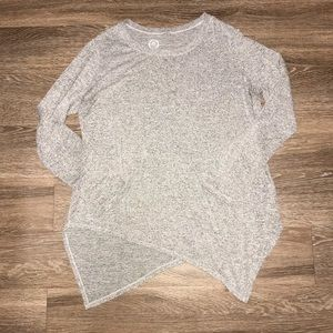 Maurices 24/7 Heathered Gray Pullover, Size Large